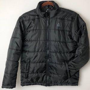 Reebok black boy's jacket,size 14/16-L-G used once